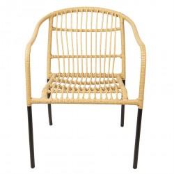 Krzesło Skandynawskie Rattanowe Santi E