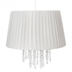 Lampa Sufitowa Plisowana Szara A Clayre & Eef