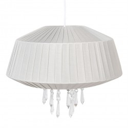 Lampa Sufitowa Plisowana Szara B Clayre & Eef