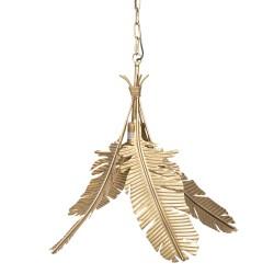 Złota Lampa Liście D Clayre & Eef