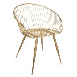 Metalowe Krzesło w Stylu Skandynawskim A Clayre & Eef