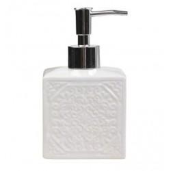 Dozownik Do Mydła Chic Antique Biały z Wzorkami