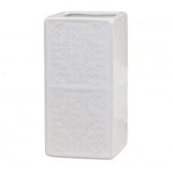 Kubek Łazienkowy Chic Antique Biały z Wzorkami