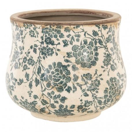 Postarzana osłonka stylizowana na prowansalską, ma charakterystyczny wzór w drobne kwiaty.