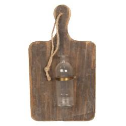 Dekoracja Ścienna Deska z Butelką