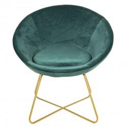 Krzesło w Stylu Skandynawskim Zielone na Złotych Nóżkach