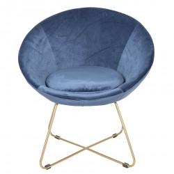 Krzesło w Stylu Skandynawskim Granatowe na Złotych Nóżkach