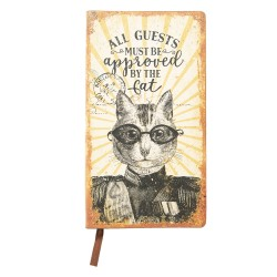 Notes Ozdobny w Stylu Retro z Kotem A