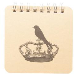 Notes Ozdobny w Stylu Prowansalskim z Ptaszkiem