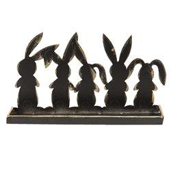 Dekoracja Wielkanocna Metalowe Zające A