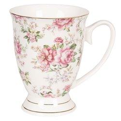 Kubki Porcelanowe w Kwiaty 6szt. C