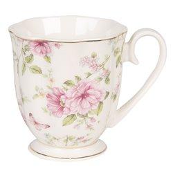 Kubki Porcelanowe w Kwiaty 6szt. A
