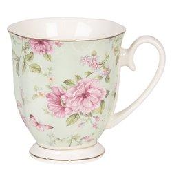 Kubki Porcelanowe w Kwiaty 6szt. B