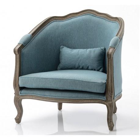 Fotel w Stylu Prowansalskim Niebieski A