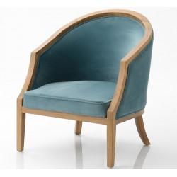 Fotel w Stylu Prowansalskim Niebieski B