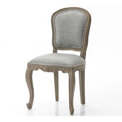 Krzesło w Stylu Prowansalskim Tapicerowany Szare