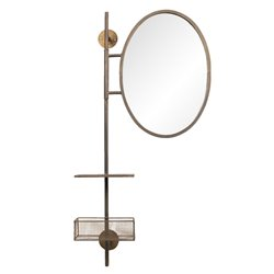 Mirror with shelf and basket