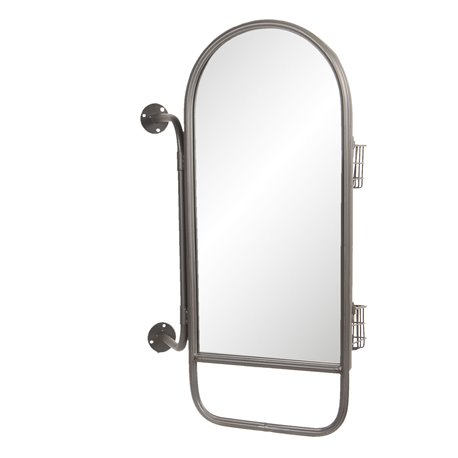 Mirror with baskets