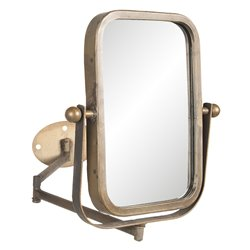 Rotating mirror with wall mount black