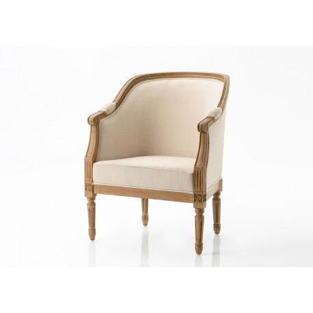 Fotel w Stylu Prowansalskim Beżowy A