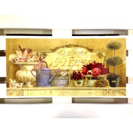 Obraz w stylu prowansalskim z motywem kwiatowym
