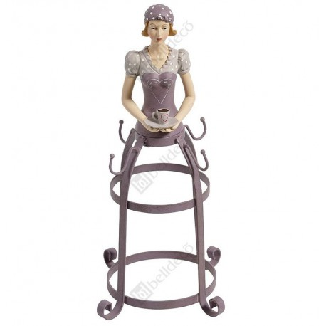 fioletowy stojak na kubki