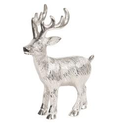 Figurka Świąteczna Srebrny Jeleń Clayre & Eef