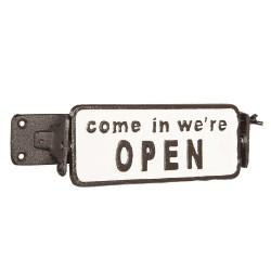 Żeliwna Tabliczka Open/Closed Clayre & Eef