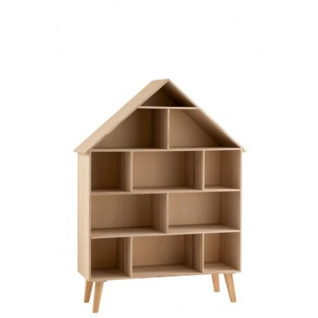 Ten oryginalny regał domek wyposażony jest w ogromną ilość półek, które możesz przeznaczyć na zabawki i nie tylko.