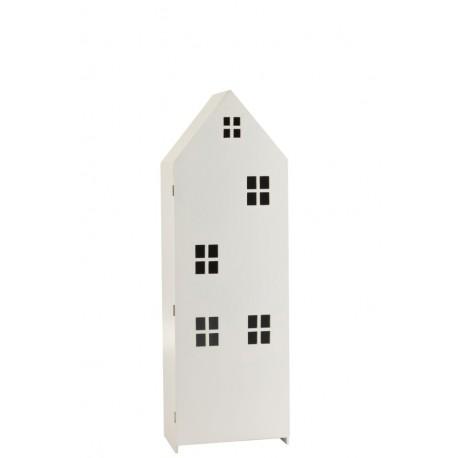 Pojemna szafka z charakterystycznymi, pojedynczymi drzwiami z okienkami.