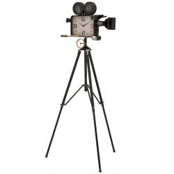 Zegar w Stylu Industrialnym Kamera Na Trójnogu