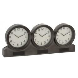 Zegar Stołowy Industrialny Potrójny