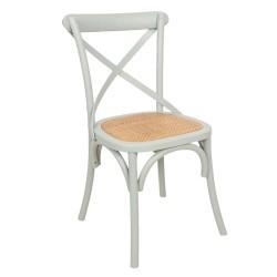 Krzesło w Stylu Prowansalskim Postarzane Szare