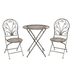 Meble Ogrodowe Prowanalskie Stolik z Krzesłami 13 Clayre & Eef