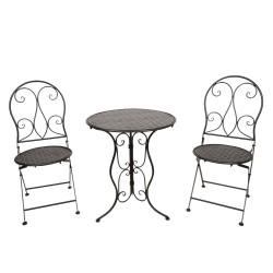 Meble Ogrodowe Czarne Prowanalskie Stolik z Krzesłami A