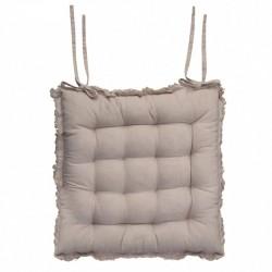 Poduszka Na Krzesło Chic Antique Pikowana Ciemnobeżowa
