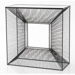 Metalowa Konsola Czarna Cubic A
