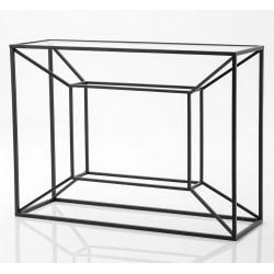 Metalowa Konsola Czarna Cubic B