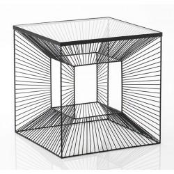 Metalowy Stolik Czarny Cubic B