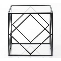 Metalowy Stolik Czarny Cubic C