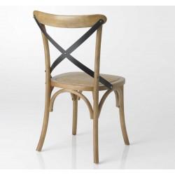 Krzesło Krzyżak z Rattanowym Siedziskiem