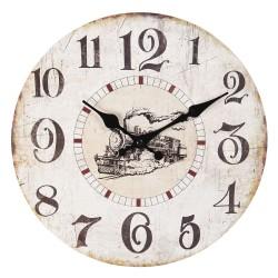 Zegar w Stylu Prowansalskim z Kwiatami