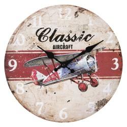 Zegar w Stylu Vintage z Lokomotywą
