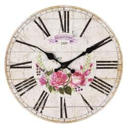 Zegar w Stylu Prowansalskim z Różami C