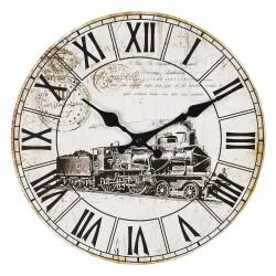 Zegar w Stylu Vintage z Lokomotywą A