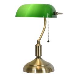 Lampka Biurkowa z Zielonym Kloszem
