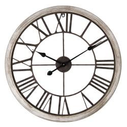Zegar Ażurowy Metalowy Czarny