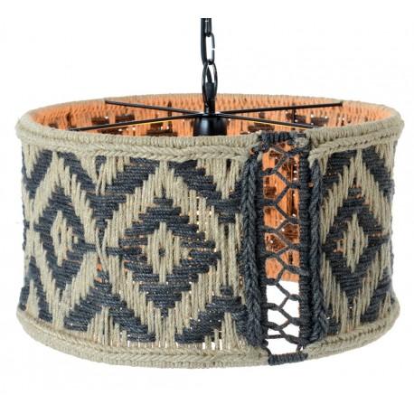 Pleciona lampa to ejden z najlpeszych elementów do oświetlenia wnętrz w stylu boho.