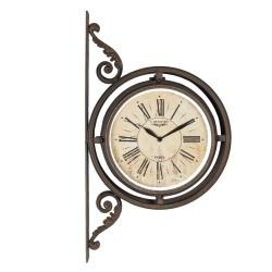 Zegar Dworcowy Dwustronny Postarzany