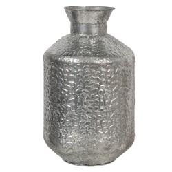 Metalowy Wazon Srebrny A